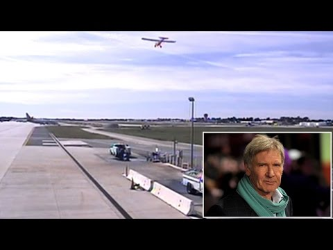 Frightening New Video Shows Harrison Ford Landing Plane On Wrong Runway