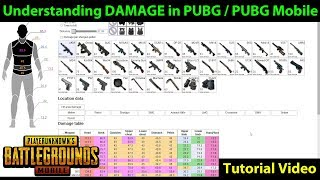 Understanding DAMAGE in PUBG / PUBG Mobile | How Much Each Weapon Does | Battlegrounds.party