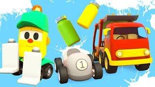 Kinder Cartoon auf Deutsch - Liftys Laden - Wir malen Autos an