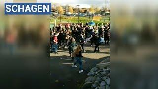 Tientallen jongeren op de vuist op Regius College Schagen