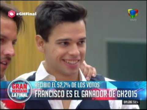 Francisco se coronó como el gran campeón de Gran Hermano 2015