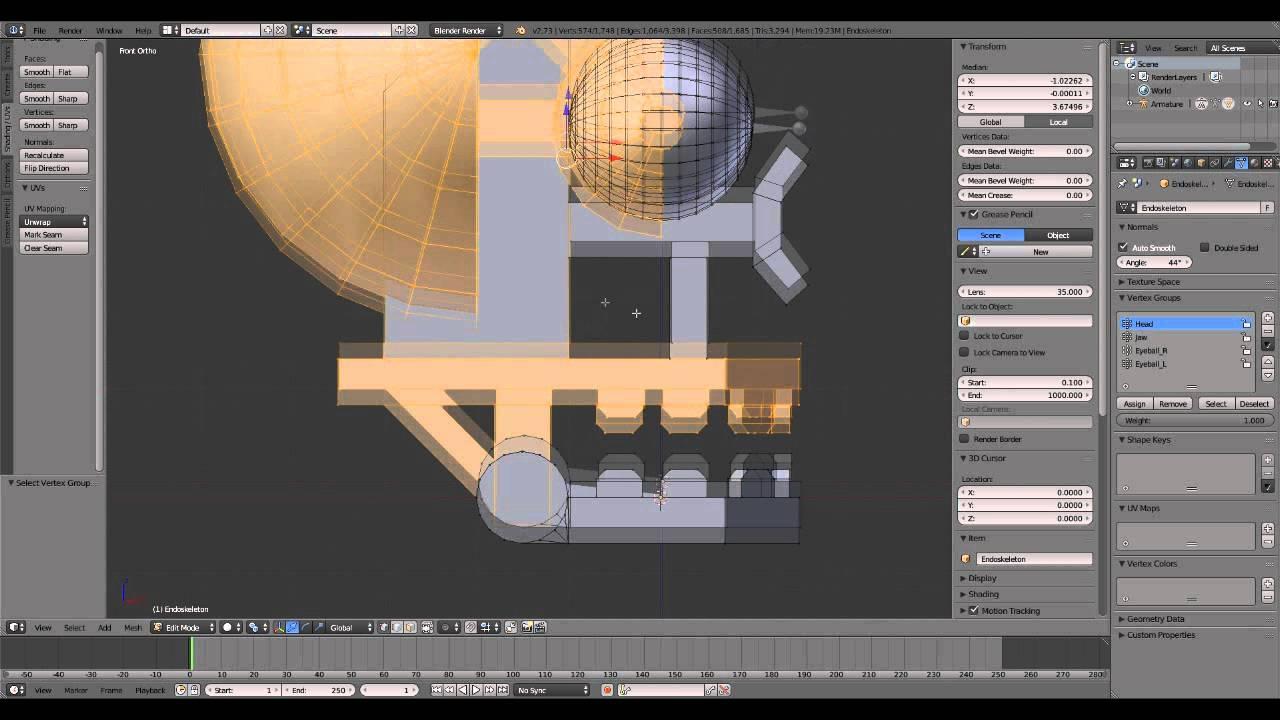 Modeling An Endoskeleton Head Fnaf Fan Art Youtube