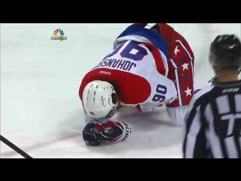 Mike Weber interference hit on Marcus Johansson . Jan 28 2014