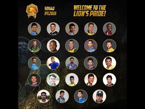 IPL 2017|| Gujarat Lions Full Team Squad 2017|| GL full team 2017