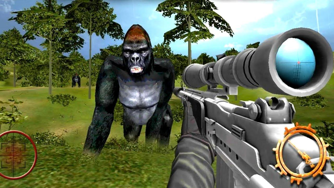 Scary Hunt Gorilla Animal - Wild shooting Hunter   Gorilla Animal Hunting - Android GamePlay