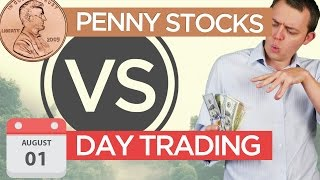 What's the difference between penny stocks, day trading, & swing trading?