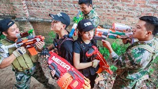LTT Nerf War : SEAL X Warriors Nerf Guns Fight Criminal Group Mission Protect Arsenal