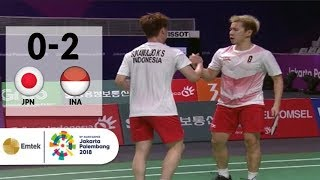 Download Video GOKIL! Gideon-Sanjaya Meratakan Jepang di Semifinal Badminton Beregu Putra | Asian Games 2018 MP3 3GP MP4