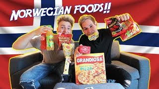 TRYING NORWEGIAN CANDY AND FOOD!!