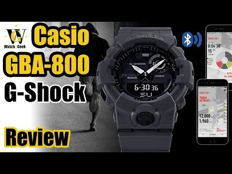 56e1522b9627 GBA-800 G-Shock review - G-Squad Bluetooth enabled Step tracker - YouTube