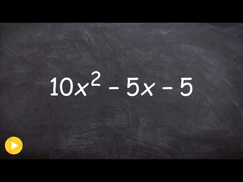Factoring out a GCF then the trinomial