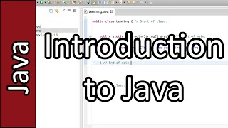 Learn Java as a First Programming Language - Java Programming Tutorial #1 (PC / Mac 2015)