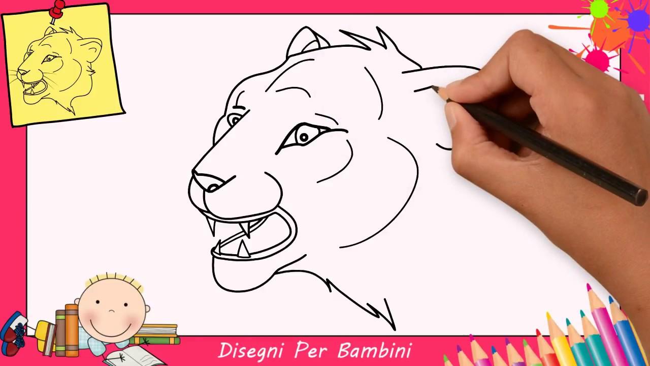 Come disegnare un leone facile passo per passo per bambini for Disegno cavallo per bambini