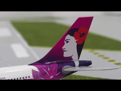 Hawaiian Airlines Airbus A330-200 Gemini Jets 1 400 scale (Unboxing 20)