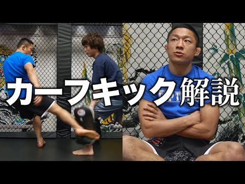 Horiguchi Kyoji explains the calf kick and its defense