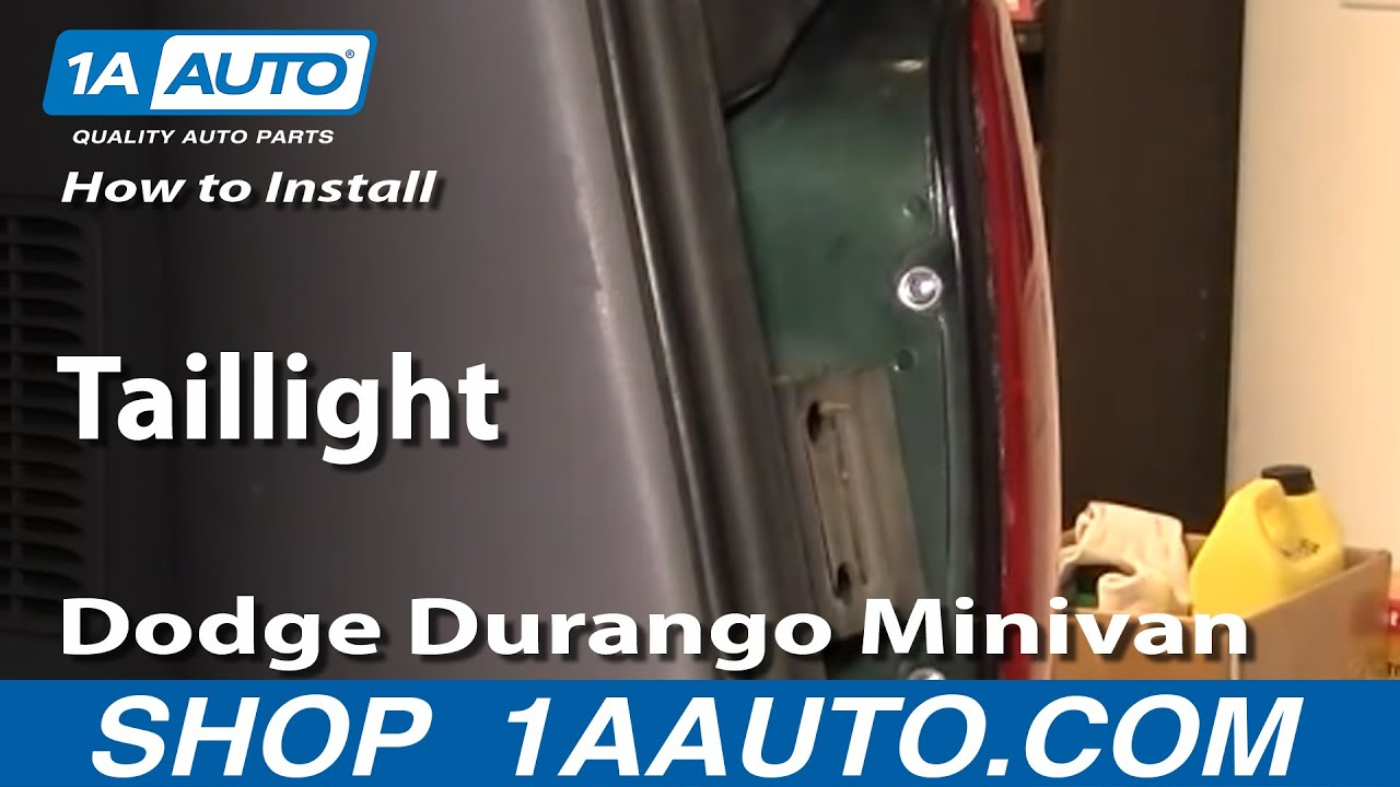 08 Dodge Ram Wiring Diagram How To Replace Tail Light 98 03 Dodge Durango Youtube