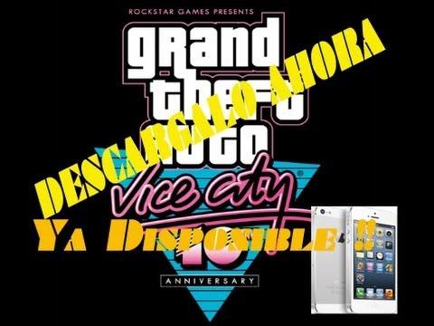 Descarga Grand Theft Auto Vice City para iPhone y Android , Ya esta Disponible!! en Español