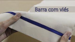 Como fazer barra com viés / Barra para tecidos grossos
