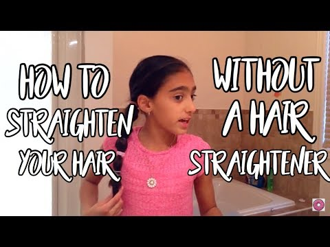 How to make your hair straight without heat in 5 minutes