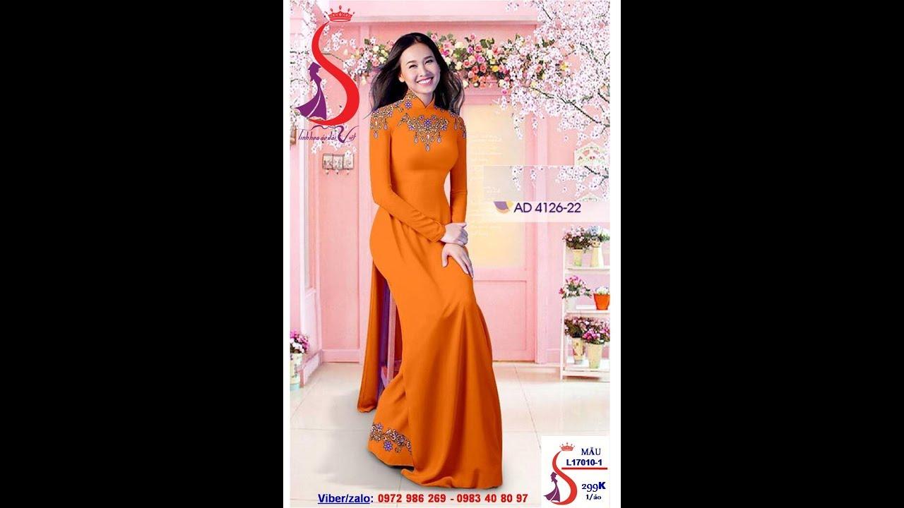 Vải áo dài 3D LỤA CAO CẤP đẹp nhất Việt Nam tại Vải Áo Dài S
