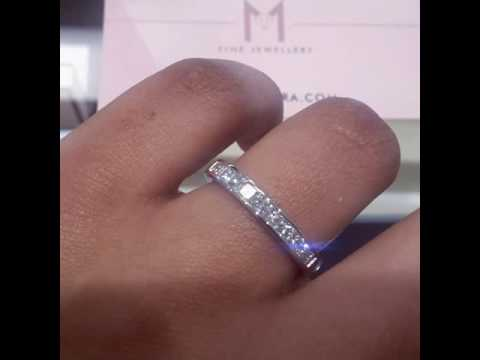 Princess Cut Diamond Wedding Band / Eternity Ring Diamond
