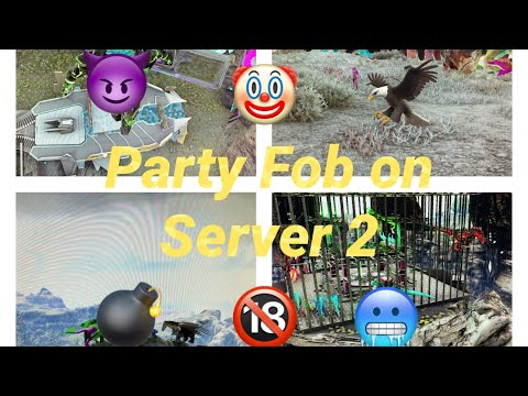 🔥💯Party Fob on Server 2 and Flyer pvp 🤡🤡 | Ark official pvp 🥶🔞🦅