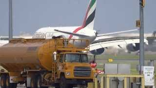 Emirates Toronto Lester B. Pearson Runway Action