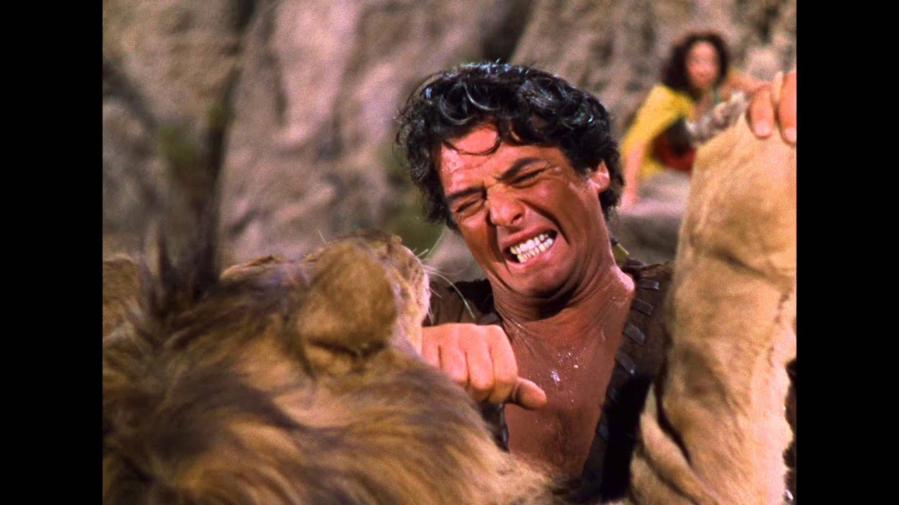 samson and delilah lion youtube