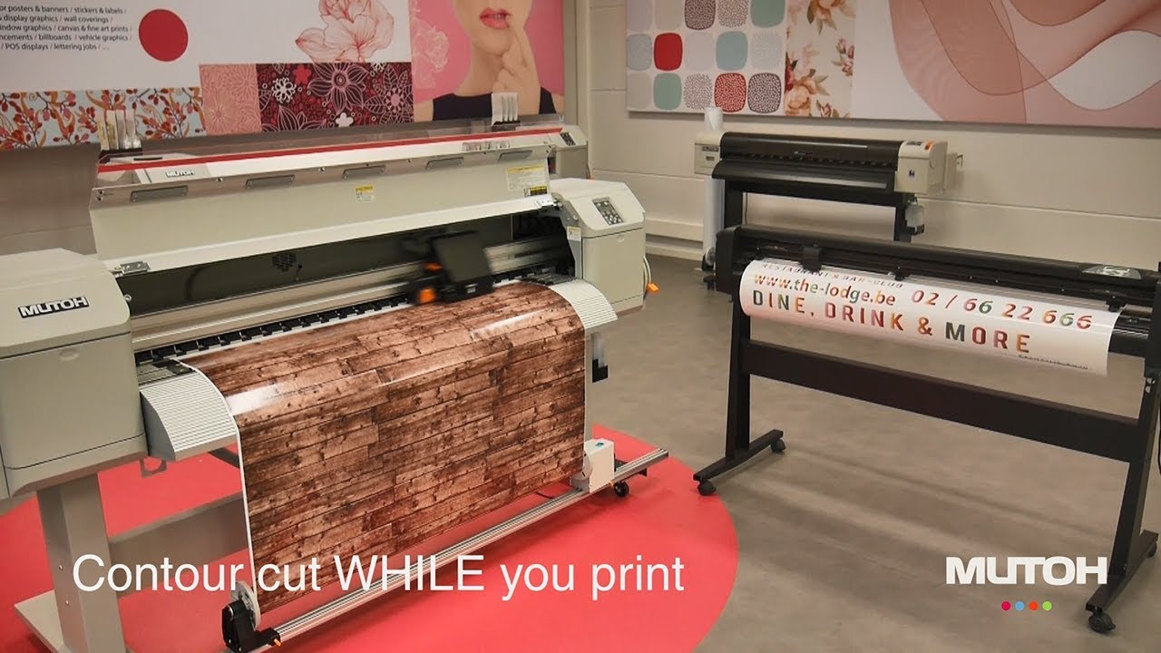 Print & Cut Equipment  Mutoh Print and Cut Solution!