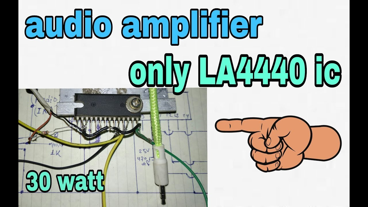 Audio Amplifier Without Using Any Other Components Only Ic La4440 Circuit Board La4508 100 Working Korba