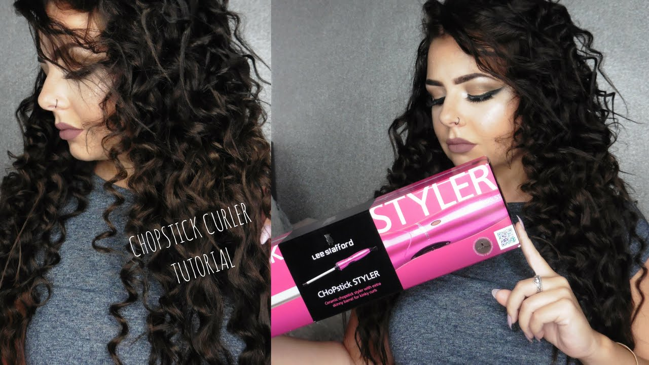 LEE STAFFORD CHOPSTICK CURLERS Hair Tutorial YouTube