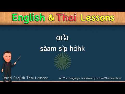 English Thai Lesson 19 - Numbers 22, 23, 27, 31, 36, 41, 55, 62, 73, 99 -Counting Thai Numbers