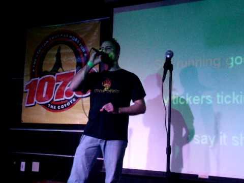 Joel Evangelist Singing Karaoke 3-12-11  - Lucky Man