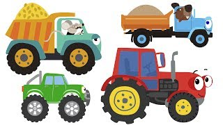 ЗБІРКА з 9 ПІСЕНЬ МУЛЬТИКІВ - Машинки Біп-Біп Трактор Ведмідь Світлофор Літак для дітей малюків