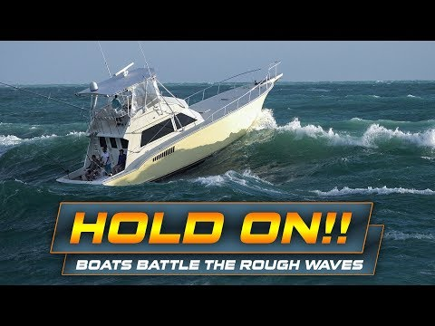 BOATS FACING THE WAVES AT HAULOVER INLET!! | Plus On Board Footage!