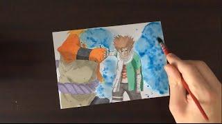 Speed drawing Choji Akimichi VS Jirobo ( Naruto )