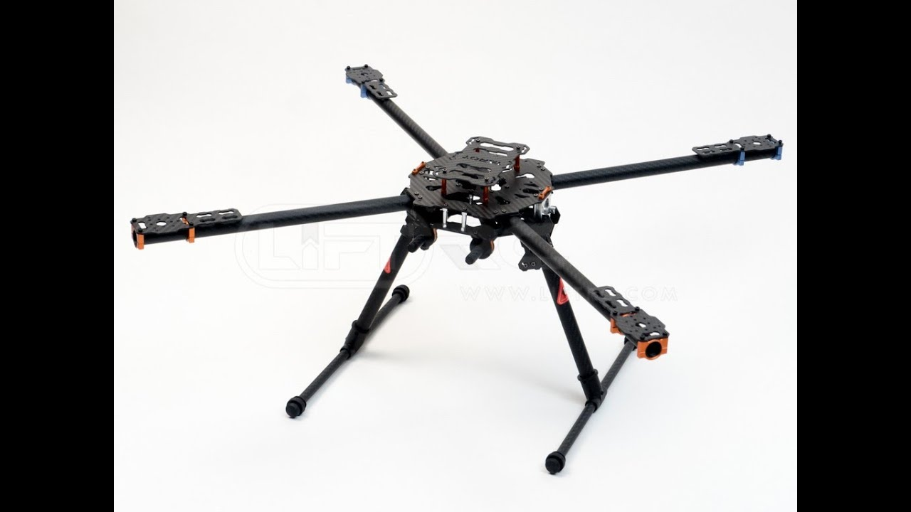 Tarot Iron Man 650 Foldable 3K Carbon Fiber Quadcopter Frame - YouTube