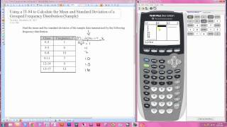 Using the TI-84 f๐r the Mean and Standard Deviation of a Grouped Frequency Distribution