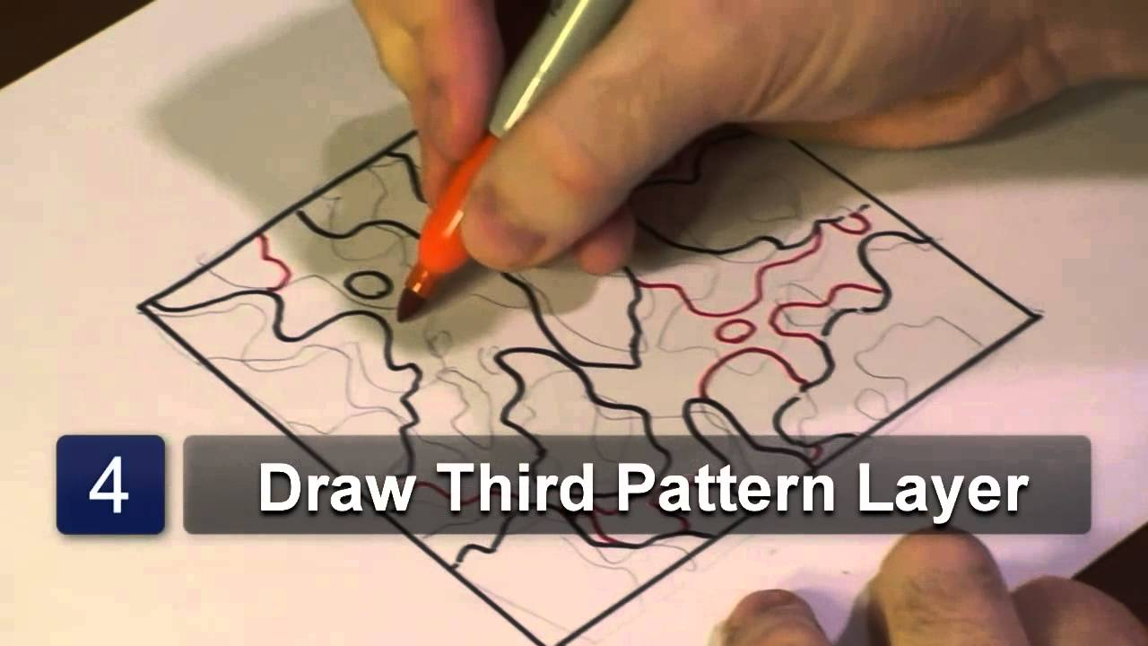 How To Draw Camouflage Patterns Youtube