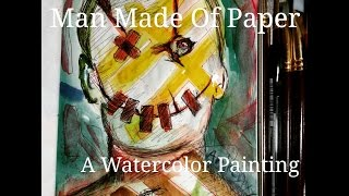 Man Made Of Paper || Andromaxy Time-lapse Watercolor Painting