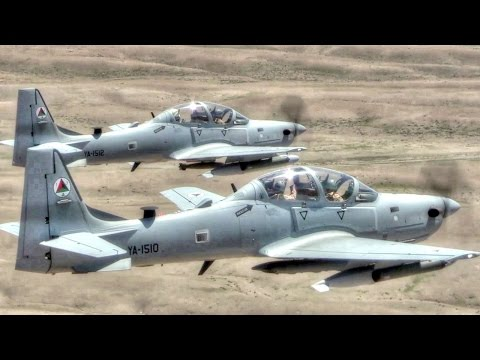 A-29 Super Tucano Attack Aircraft In Action – Live Fire Training