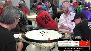 2019 Ontario Doubles Crokinole Championship - Conrad/Hutchinson v Miltenburg/Henry