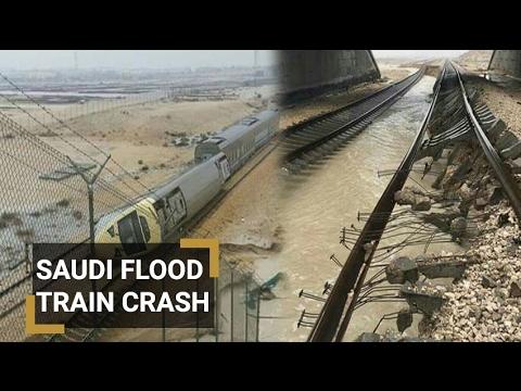 Saudi flood: A Train derailed near the eastern city of Dammam, injuring 18