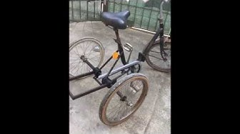 Bicicletta 3 ruote autocostruita in casa da Graziella bici by pinpirinella Certaldo