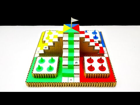 Wow! Amazing DIY 3D Ludo Board Using Cardboard