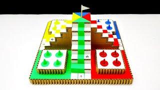 Wow! Amazing DIY 3D Ludo Board Using Cardboard