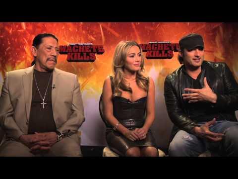 MACHETE KILLS Interviews: Danny Trejo, Alex Vegas and director Robert Rodriguez