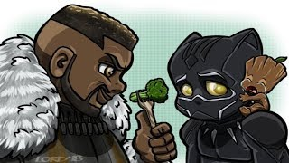 30+ 🔥Black Panther🔥  Hilariously Funny Comics To Make You Laugh. Marvel.