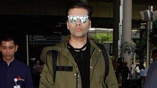 Karan Johar Spotted At Mumbai Airport