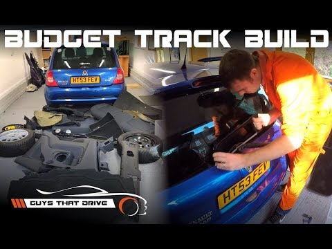 Renault Clio 172 DIY Weight Reduction + Injector and Powerflex Engine Mount Install | BTB Ep 8
